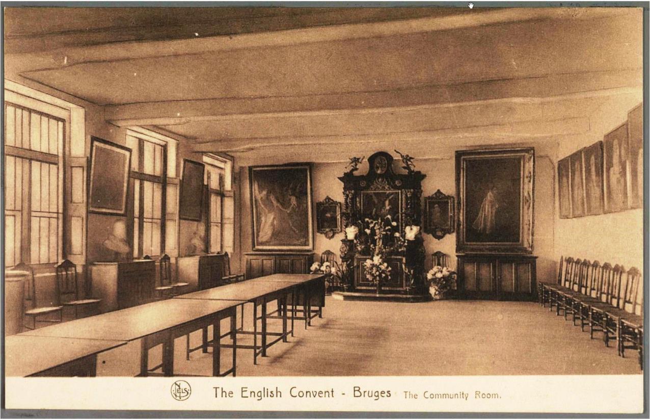 La salle de communauté, avant la guerre de 1940