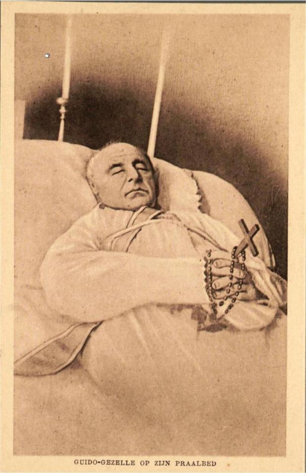 Guido Gezelle sur son lit de mort